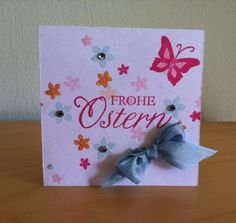 Einfache Osterkarte mit Stampin' Up Stempeln gemacht - simple easter card made with Stampin' Up stamps