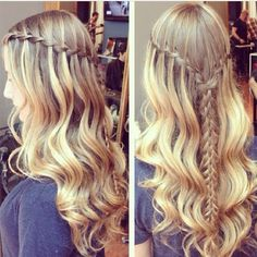 Waterfall Dutch braid crown perfect for casual days. Super cute and fun!