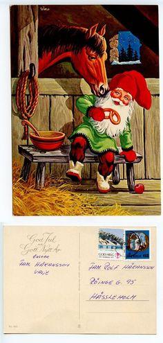 Sweden 1976 Postcard God Jul Och Gott Nytt