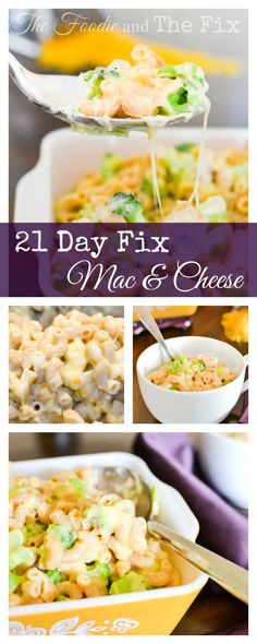 21 Day Fix Broccoli Mac & Cheese (AKA the perfect Mac & Cheese) – The Foodie and… 21 Tage Fix Broccoli Mac & Cheese (AKA der perfekte Mac & Cheese) – Der Feinschmecker und der Fix Clean Eating Recipes, Diet Recipes, Healthy Eating, Cooking Recipes, Healthy Recipes, Chicken Recipes, Vegetarian Recipes, Cheese Recipes, Vegetarian Cooking