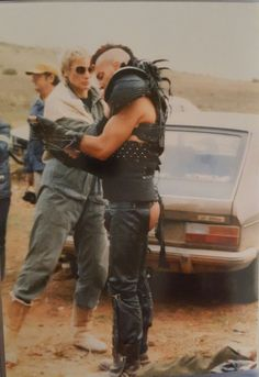 Vernon Well as Wez behinds the scenes on #MadMax 2 (1981) via Virginia Hey