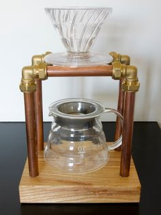 Coffee Pour Over Stand by MadeByWilliamPenn on Etsy https://www.etsy.com/listing/225543268/coffee-pour-over-stand