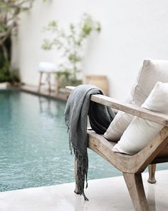 Airbnb villa in Bali, ethnic decor, tropical interior design, villa for rent in Bali, rental in Indonesia Balinese Decor, Kuta, Outdoor Spaces, Outdoor Living, Living Pool, Moderne Pools, Living Colors, Turbulence Deco, Tropical Interior