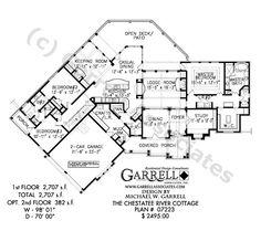 amicalola cottage house plan   house plansgarrell associates