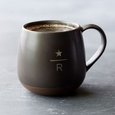 A laser-etched ceramic mug inspired our Starbucks Reserve<sup>®</sup> coffees.