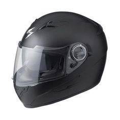 Scorpion EXO-500 Helmet – Medium/Matte Black  Scorpion EXO-500 Solid Helmet Moving quality features up to the forefront and price back into the shadows, the Scorpion EXO-500 is a motorcycle helmet that delivers outstanding value without incurring any penalties for doing so. Standard features include a retractable sun visor, removable moisture wicking liner and effective ventilation. And while the fundamentals are all top notch, the EXO-500 is also blessed with graceful, clean lines. ..