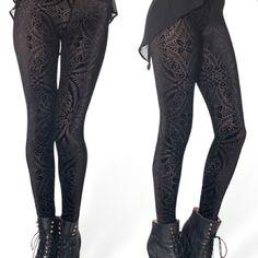 Black Milk Burned Velvet Leggings - XL Never been worn black milk burned believer leggings size extra large. Blackmilk Pants Leggings