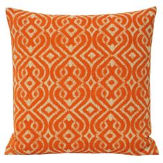 Energetic and colourful, the Riva Home Mono Luca cushion uses a vibrant orange damask style pattern so you can make an eclectic addition to your decor.