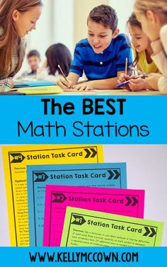 THE BEST Math Stations for workshops or centers in your classroom. Have you tried the Middle School Math Stations yet? Perfect for kids in grades 6, 7, 8. Students work independently to review and practice all key math skills. Download a set of task cards today! Guided Math Stations, Math Expressions, Sixth Grade Math, Math Intervention, Math Classroom, Math Math, Maths, Classroom Ideas, Math Workshop