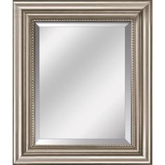 Yosemite Warm Silver Finish Framed Mirror - Free Shipping Today - Overstock.com - 16406363 - Mobile
