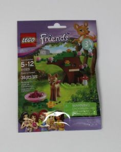 Lego Friends Fawn's Forest 41023 : eBay.com $7.99.  Sweet little fawn, a mini tree, pink bowl with cherries.  Would like 3 or 4 of this.
