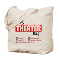 My Director Tote Bag by Community Theater Green Room Originals - CafePress Theatre Nerds, Musical Theatre, Theater, Broadway Theatre, Broadway Themed Room, Reusable Shopping Bags, Canvas Tote Bags, Musicals, Gift Ideas