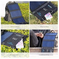 Solar Power Bank Solar Panel 20W Portable Charger External Battery Universal Powerbank For iPhone For Xiaomi Phones