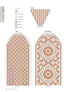 Mittens Pattern, Knit Mittens, Mitten Gloves, Knitting Socks, Fair Isle Knitting Patterns, Knitting Charts, Craft Patterns, Stitch Patterns, Cross Stitch Geometric