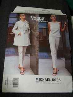 vogue michael kors trench ensemble 1918 Vogue Patterns, Coat Patterns, Michael Kors, American, Trench, Peplum Dress, Dresses, Fashion, Boss