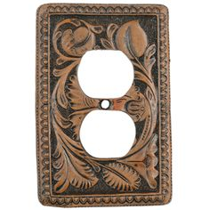 Tooled Leather Outlet Cover