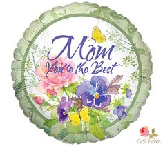 "Show Mom that she's the BEST with our #burtonandburton 17"" Abundant Blooms Balloon. #hmd #mothers_day #for_mom"