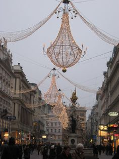 Christmas in Vienna - beautiful chandelier's on Graben.