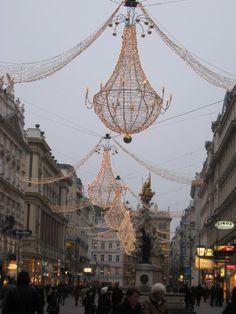 Christmas in Vienna - beautiful chandelier's on Graben.