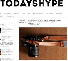 """""""hard graft is known to produce some of the highest quality leather/wool-felt products and that trend continues with this latest camera handle and hang camera strap..."""" TODAYSHYPE.COM"""