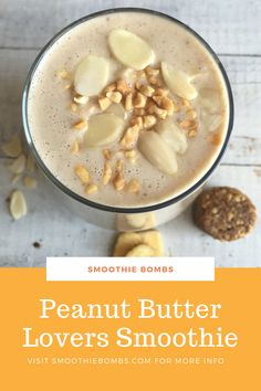 Nutritionally boosted with a Peanut Butter Smoothie Bomb