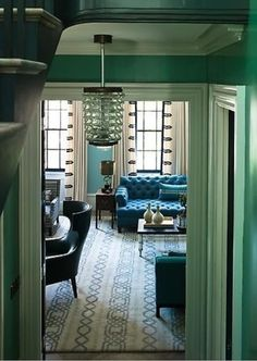 Art Deco style - Streamlined, rectilinear modernism, luxury & exuberance in materials and pattern, chevrons, metals, & vivid colors.