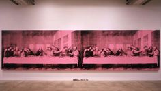 """Andy Warhol's Last Supper - in a late interview a comment was made that it was strange to see Christ in that setting, because he was typically depicted only once, to which Warhol replied """"now there are two"""""""