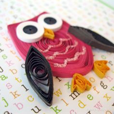 Paper Quilled Congratulations Baby Owl Card. $7.50, via Etsy.