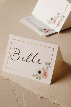 Peeking Florals Place Cards (10) in  Gifts & Décor  View All Décor | BHLDN