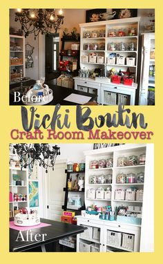 Vicki Boutin: Scraproom/Studio/Craft Room Tour