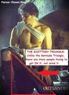 #Outlander Scottish Triangle *More Outlander memes can be seen on my blog: http://parcaschosen.blogspot.ca/2014/09/queen-of-meme-outlander-collection.html