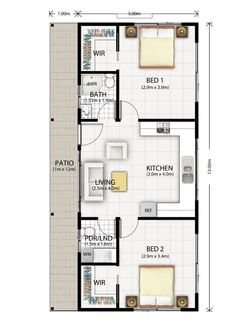 Cromer Granny Flat Design Floor Plan  ~ Great pin! For Oahu architectural design visit http://ownerbuiltdesign.com