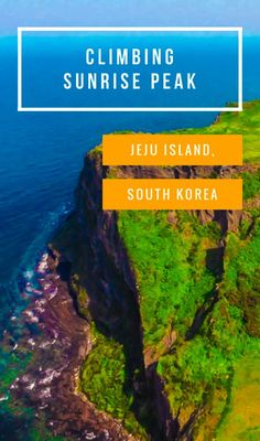 A guide for climbing the Jeju Island, Korea icon of Sunrise Peak, a year old crater known locally as Seongsan Ilchulbong, complete with haenyeo divers! Travel in Asia. Travel Advice, Travel Guides, Travel Tips, Travel Destinations, South Korea Travel, Asia Travel, Wanderlust Travel, Laos, Travel Pictures