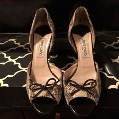 Jimmy choo heels Authentic used jimmy choo open toe sandals small heel with black sole protector size 39.5 Jimmy Choo Shoes Sandals