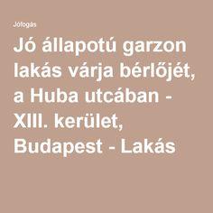 Jó állapotú garzon lakás várja bérlőjét, a Huba utcában - XIII. kerület, Budapest - Lakás