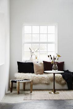 Holly's House - Black & White Sitter Stool
