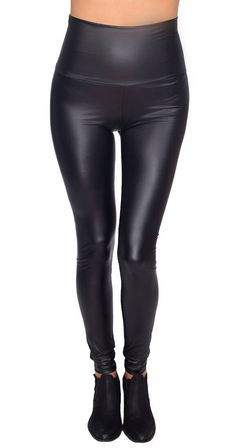 The perfect leather look leggings are back. Wear them high waisted or fold over the waistband if that is more comfortable for you. Either way, they pair stylishly with tunics, sweaters and just about anything else! Silver Icing, Cruise Control, Tunics, Leather Pants, Pairs, Clothing, Sweaters, How To Wear, Stuff To Buy