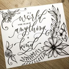 Day 3/30 #bekind #showersofkindness with my lady loves @alieletters @sketchyminx @astrokeofgenius_   ..  ..  Today I tag my very first #calligrafriend Sarah @ensigninsights  She was the first person I met in this community that showed me kindness and gave me tips to help my lettering journey grow. She is such a sweetheart and so very talented! Swipe to the left to check out some of her amazing work! Love you girl, thank you for showing me kindness!