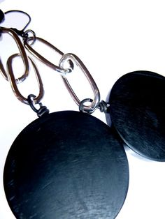 Items similar to Earrings, made with silver chain and black resin discs by Bolder and Beautiful for Etsy on Etsy Jewelery, Resin, Earrings, Silver, Etsy, Beautiful, Black, Jewelry, Ear Rings