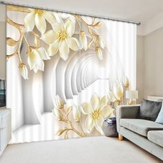White World Flower Bedroom Living Room Kitchen Home Textile Luxury 3D Window Curtains Gift For Family #Affiliate