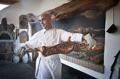 "The famous ""Porceddu"", tipical sardinian meat cooked in ""Li Ciusoni"" Restaurant"