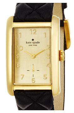 kate spade new york 'cooper grand' leather strap watch