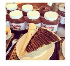 Yummy food creeps with nutella