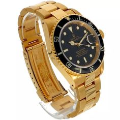 Rolex Submariner ref. 16618 (D+P - Spiegelgracht Juweliers Vintage Watches For Men, Vintage Rolex, Luxury Watches, Rolex Watches, Amsterdam Shopping, Rolex Submariner, Best Model, Gold Watch, Vintage Jewelry