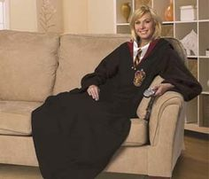 Harry Potter Snuggie Blanket. WHY DON'T I OWN THIS? I think I found the perfect study attire for you....
