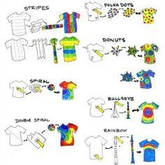 Diferentes formas para decorar tu camiseta con un estilo psicodélico. Different ways to decorate your shirt with a psychedelic style.