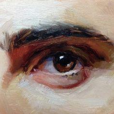 Академическая живопись. Фрагмент. Глаз. Масло.