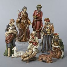 Shop for Classical Porcelain Christmas Nativity Figure Set. Get free delivery On EVERYTHING* Overstock - Your Online Christmas Store! Get in rewards with Club O! Christmas Nativity Set, Christmas Figurines, Christmas Store, Christmas Fun, Christmas Decorations, Christmas Greetings Christian, Nativity Sets For Sale, Porcelain Dolls For Sale, Three Wise Men