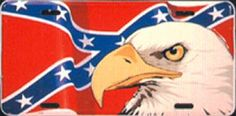 Image from http://www.rebelyellonline.com/images/MP8895%20Eagle%20Confederate%20Flag%20Car%20Tag.jpg.