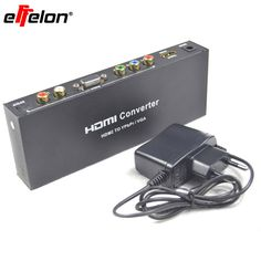 Effelon HDMI to RGB Component  Audio Video Adapter HDMI to VGA /SPDIF/RL Converter Support 5.1CH Surround Sound #Affiliate